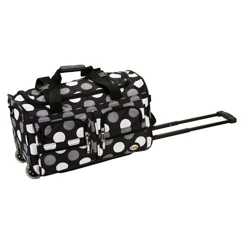 b3397fd19de9 Rockland Rolling Duffle Bag - New Black Dot (22