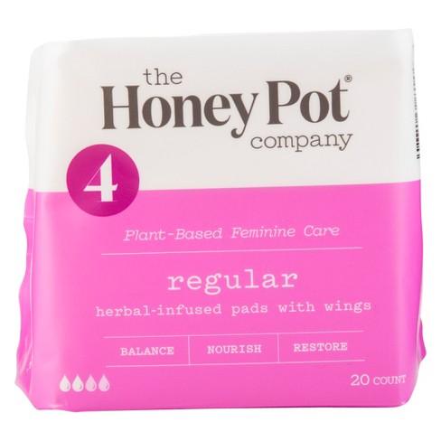The Honey Pot Regular Herbal Menstrual Pads - 20ct - image 1 of 4