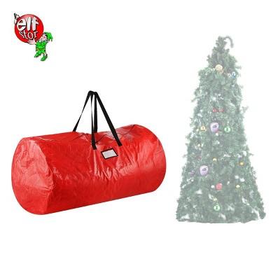 9u0027 Deluxe Holiday Christmas Tree Storage Bag Red   Elf Stor