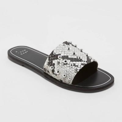 Women's Tafia Stud Slide Sandals - A New Day™