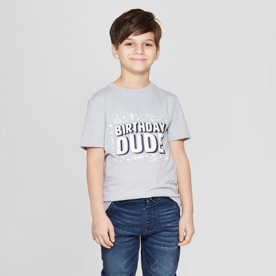 Boys Short Sleeve Birthday Dude Graphic T Shirt