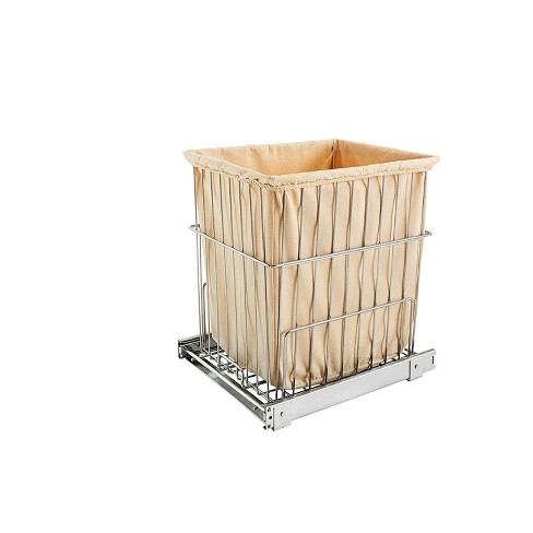 Rev-A-Shelf HRV-1520 S CR Wire Pullout Cabinet Laundry Hamper Basket, Chrome - image 1 of 3