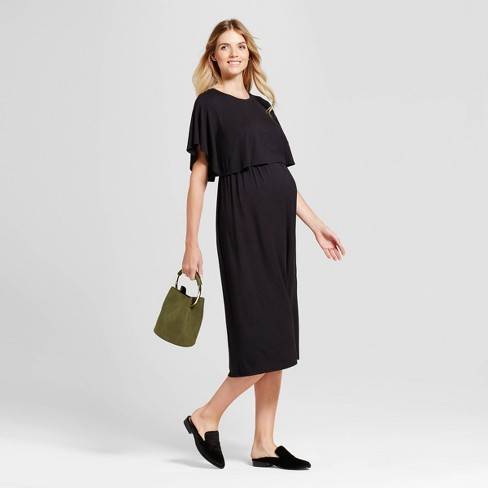 Short Sleeve Nursing Maternity Dress Isabel Maternity By Ingrid Isabel Black Target