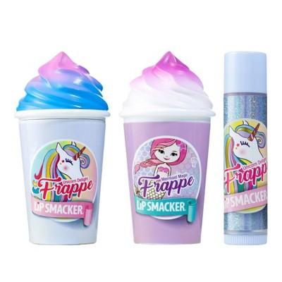 Lip Smacker Beverage Frappe Cup +  Lip Balm - Unicorn/Mermaid - 3pk