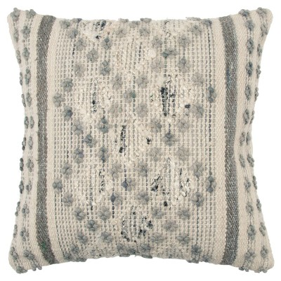 Stripe Decorative Filled Oversize Square Throw Pillow Gray - Rizzy Home