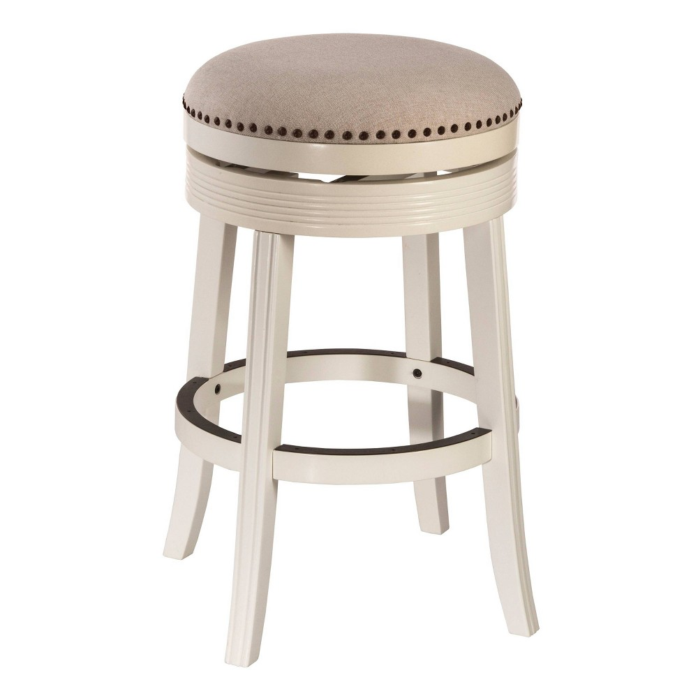 Tillman Swivel 30 Counter Stool Wood/White - Hillsdale Furniture