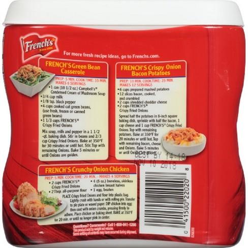 French S Crispy Fried Onions Original Flavor 6oz Target