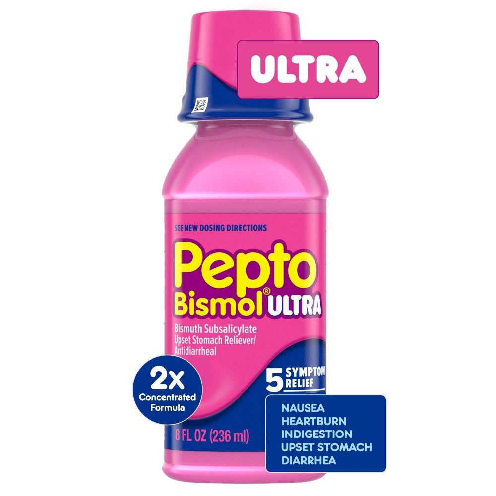 Pepto Bismol Ultra 5 Symptom Original Flavor Digestive Relief Liquid 8 Fl Oz