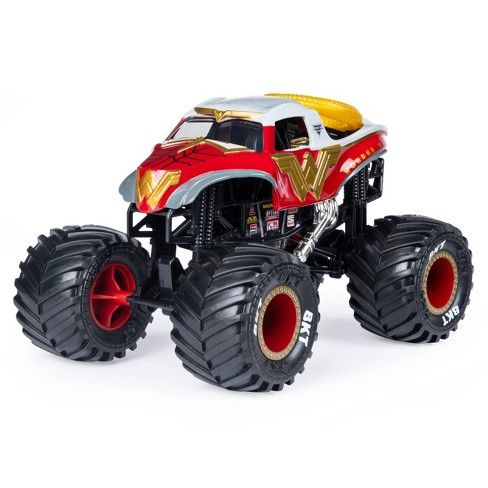 Monster Jam Official Wonder Woman Monster Truck Die-Cast Vehicle 1:24 Scale - image 1 of 4