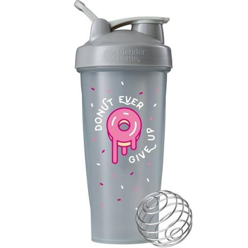 Blender Bottle Donut Give Up 28oz Portable Drinkware - Gray - image 1 of 3