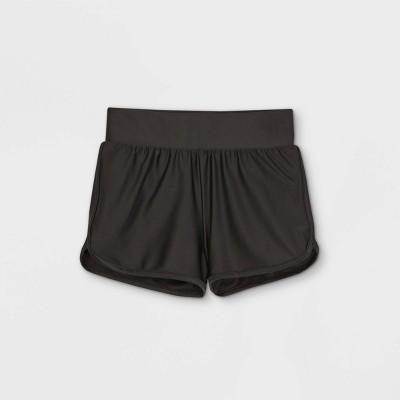 Girls' Mesh Lining Swim Bottoms - art class™ Black