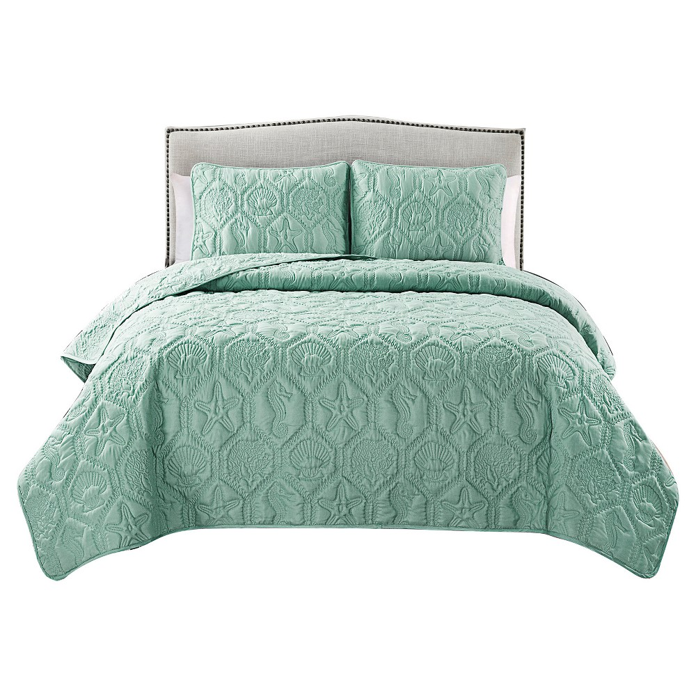Image of Green Shore Quilt Set Queen 3pc - Vcny