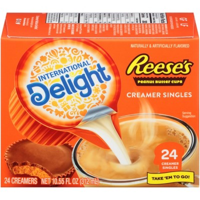 International Delight Reece's Peanut Butter Cup Single Creamers- 24ct