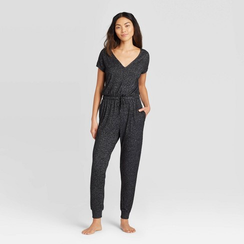Women's Perfectly Cozy Lounge Jumpsuit - Stars Above™ Dark Gray S - image 1 of 2