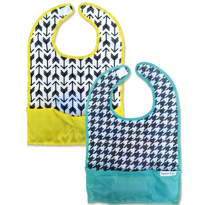 Bazzle Baby Go Bib Set Houndstooth & Arrows - 2pk