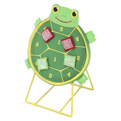 Melissa & Doug Sunny Patch Tootle Turtle Target Toss Game With 4 Self-Stick Bean Bags - image 1 of 4