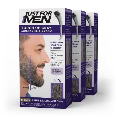 Just For Men Touch Of Gray Mustache and Beard – 3pk