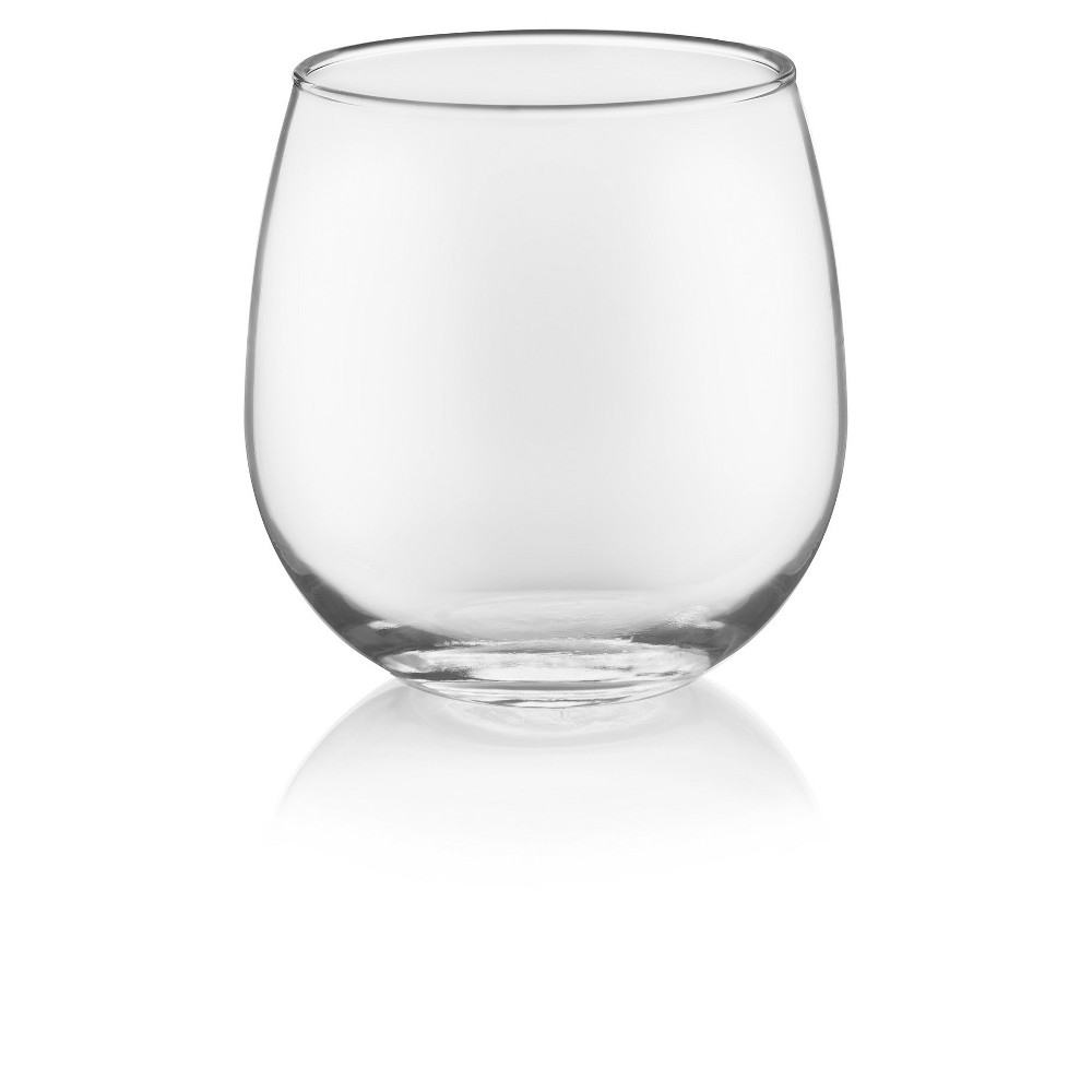 Image of Libbey 16.75oz 12pk Stemless Red Wine Glasses, Clear