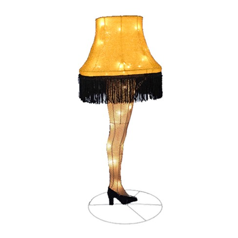 "A Christmas Story 40"" Leg Lamp Tinsel Light Up Lawn Decoration - image 1 of 1"