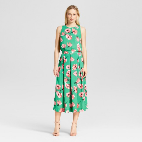Women's Birdcage Midi Skirt - Who What Wear™ Tulip Print 4 - image 1 of 3