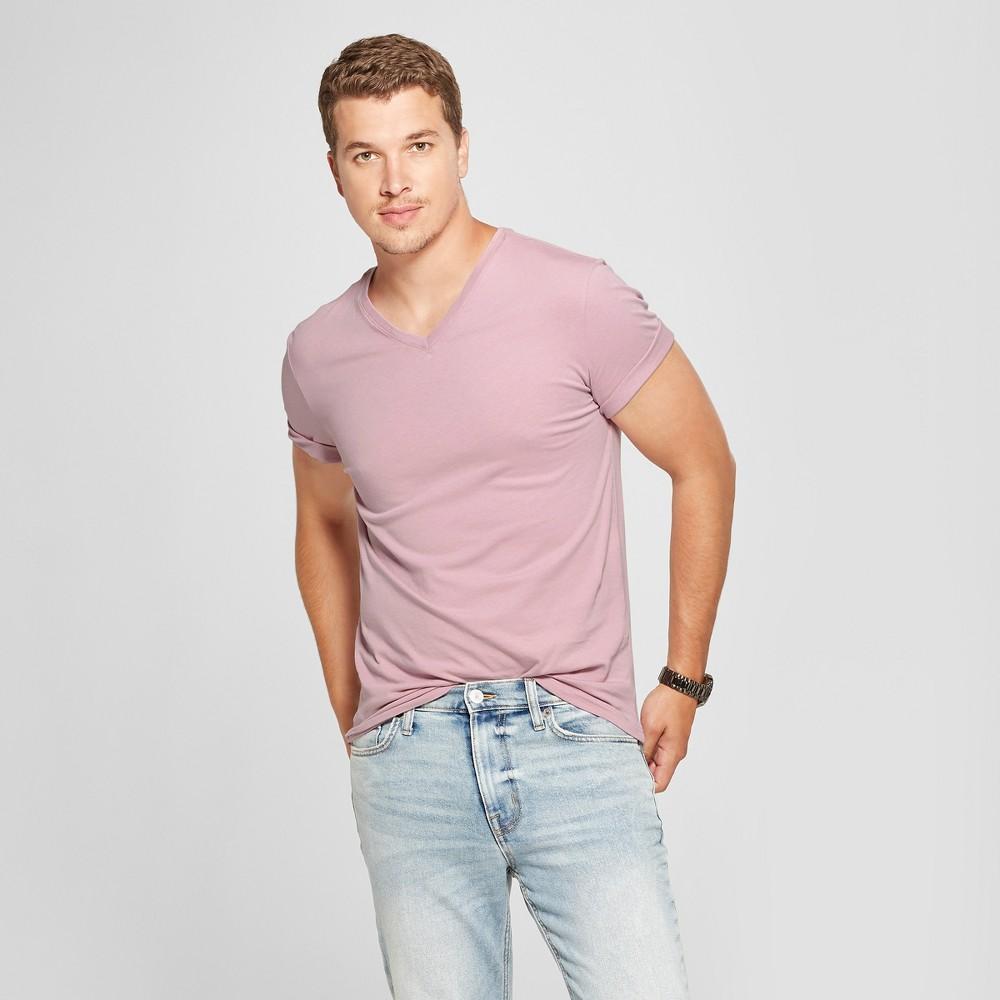 Men's Slim Fit V-Neck Short Sleeve T-Shirt - Goodfellow & Co Rio Rose 2XL