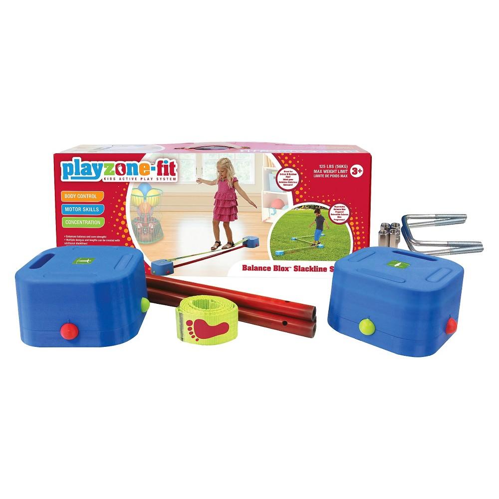 Playzone-Fit Balance Blox Slackline Kit, Multi-Colored