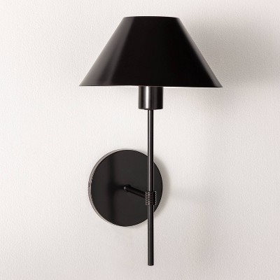 Metal Sconce Wall Light (Includes LED Light Bulb)Black - Threshold™ designed with Studio McGee