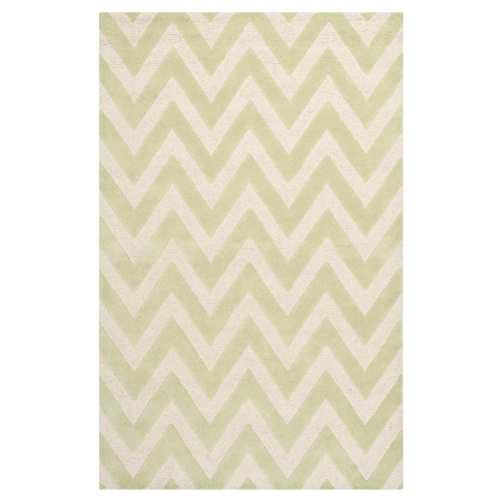 Dalton Textured Rug - Light Green / Ivory (5' X 8') - Safavieh, Light Green/Ivory