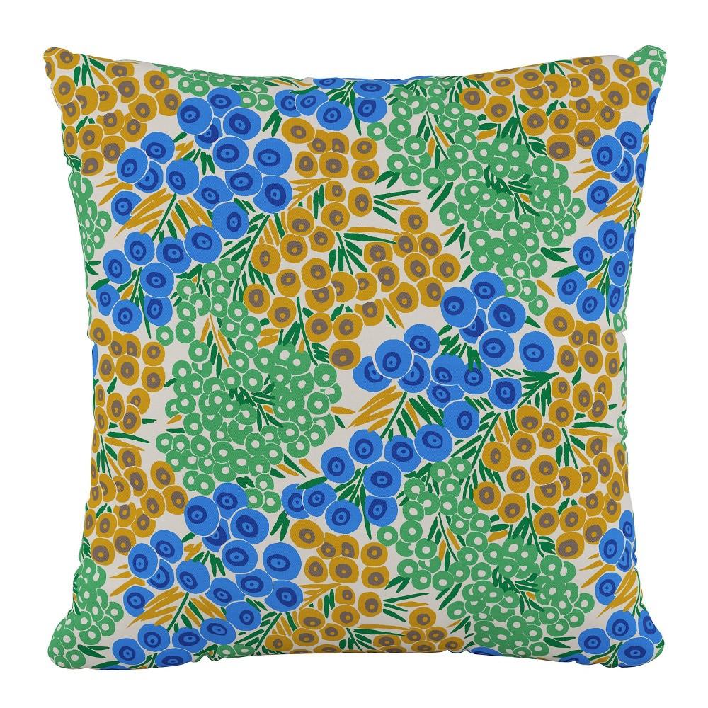 Best Loiret Outdoor Throw Pillow Blue/Citrine - Skyline Furniture