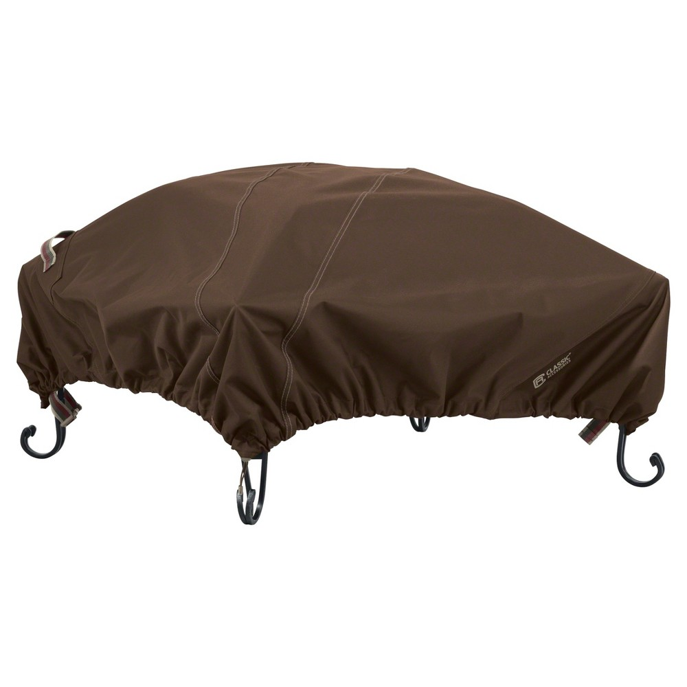 Madrona 40 Square Fire Pit Cover - Dark Cocoa (Brown) - Classic Accessories