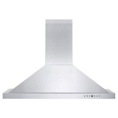ZLINE KB-36 36 Inch 400 CFM Wall Mount Kitchen Stove Oven Vent Hood, Ductless Molding Range Hood with LED Lights and 4 Speed Exhaust Fans