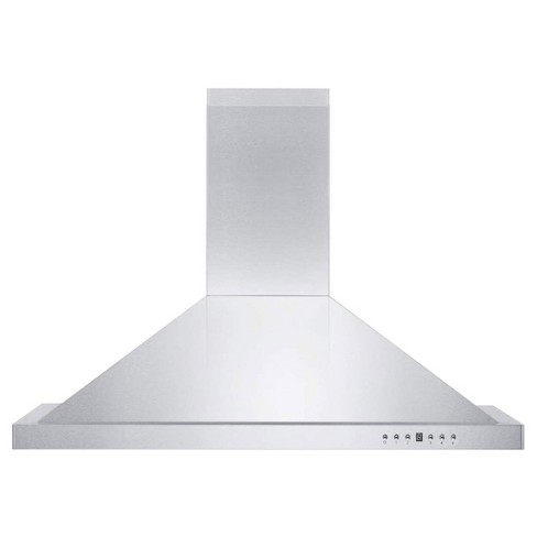 Zline Kb 36 36 Inch 400 Cfm Wall Mount Kitchen Stove Oven Vent Hood Ductless Molding Range Hood With Led Lights And 4 Speed Exhaust Fans Target