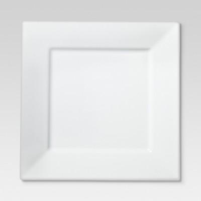 Square Rim Porcelain Salad Plate 8  - Set of 4 - Threshold™