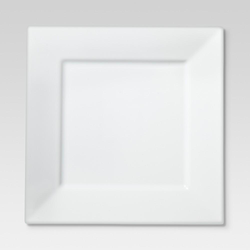 Square Rim Porcelain Salad Plate 8 - Set of 4 - Threshold Coupons