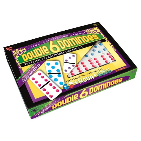 Puremco Double 6 Color Dot Dominoes - Tournament Size Game - image 1 of 2