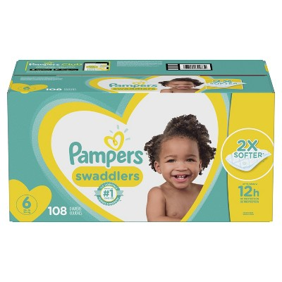 Pampers Swaddlers Disposable Diapers One Month Supply - Size 6 (108ct)