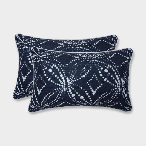 2pk Gerardo Italian Denim Rectangular Throw Pillows Blue - Pillow Perfect - image 1 of 1
