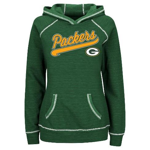 e19ed63c Green Bay Packers Women's Fleece Pullover Hoodie Sweatshirt L