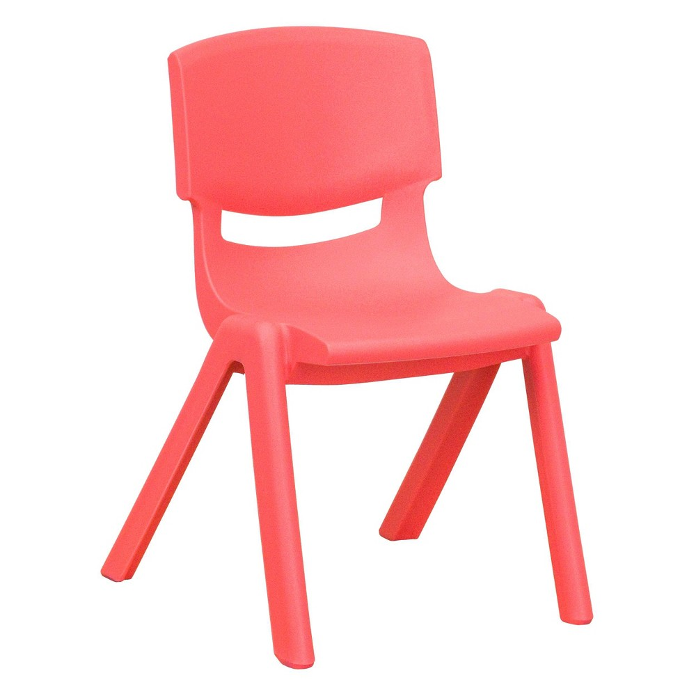Image of Small Stacking Student Chair - Red - Belnick, Adult Unisex