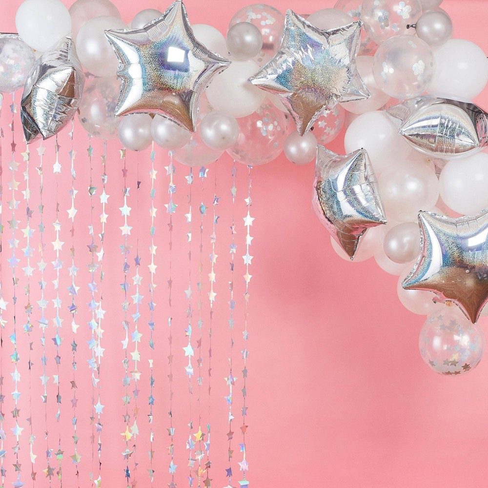Image of Iridescent Balloon Arch, Silver