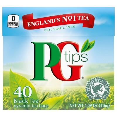 PG tips Premium Black Tea Black Tea Pyramid Tea Bags - 40ct