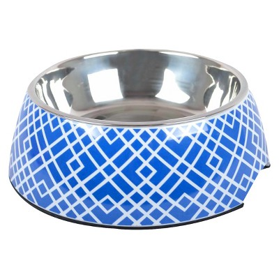 Melamine Cat and Dog Bowl - Patterned Athens Blue - Small - Boots & Barkley™