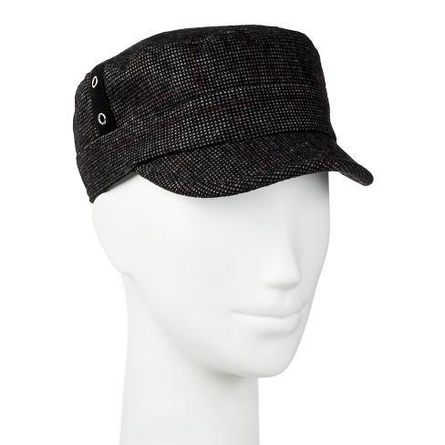 e52d9b6221d Women s Plaid Cadet Hat Black - Manhattan Hat Co.   Target