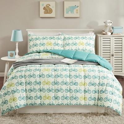 Peace Nest All Season Printed Reversible Down Alternative Comforter Set