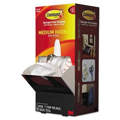 Command General Purpose Hooks Designer 3lbs Capacity White 50/Carton 17081CABPK