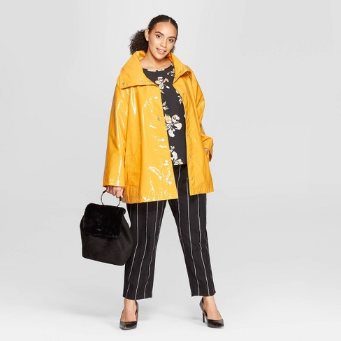 a99a630a5db Women s Plus Size Front Double Welt Pocket Button Detailed Anorak Jacket -  Who What Wear™ Mustard Yellow 4X   Target