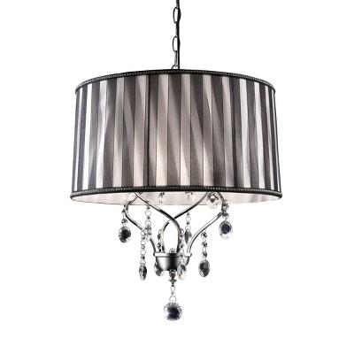 OK Lighting Lady Crystal Ceiling Lamp