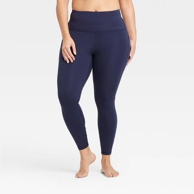 """Women's Contour Curvy High-Waisted Leggings with Power Waist 25"""" - All in Motion™ Navy S"""