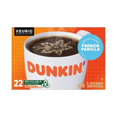 Dunkin' Donuts French Vanilla Dark Roast Coffee - Keurig  K-Cup Pods - 22ct