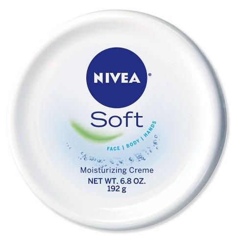 מעולה  NIVEA Soft Moisturizing Crème Body, Face And Hand Cream - 6.8oz FA-67
